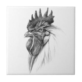 Rooster design by Schukina sk065 Azulejo Cuadrado Pequeño