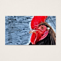 Rooster Digital Art Business Card
