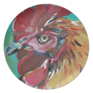 Rooster Dinner Plate