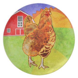 Rooster Dinner Plates