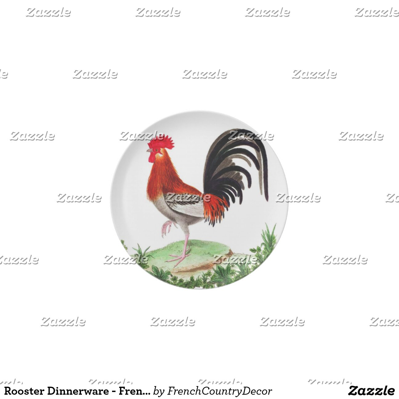 rooster dinnerware french country home decor party