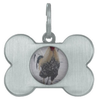 Rooster Doodle Doo Pet Name Tag