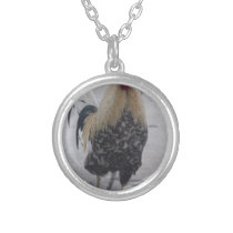 Rooster Doodle Doo Silver Plated Necklace