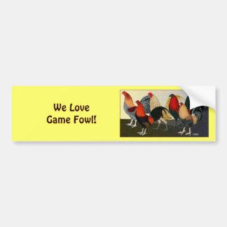 Rooster Dream Team Car Bumper Sticker