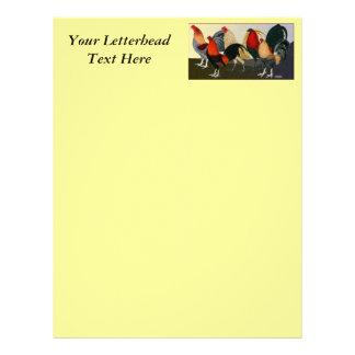 Rooster Dream Team Letterhead Design
