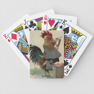 Rooster Easter Colored Egg Pipe Cigar Bicycle Playing Cards