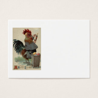 Rooster Easter Colored Egg Pipe Cigar Business Card