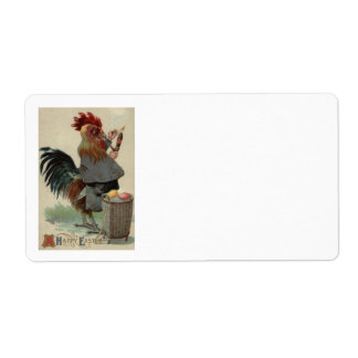 Rooster Easter Colored Egg Pipe Cigar Label