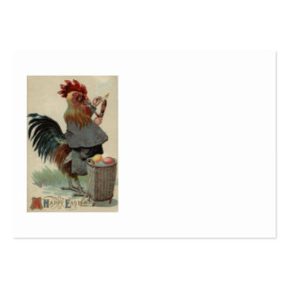 Rooster Easter Colored Egg Pipe Cigar Large Business Card