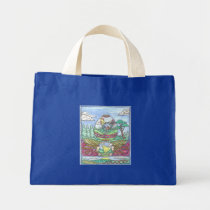 Rooster Easter Egg Mini Tote Bag