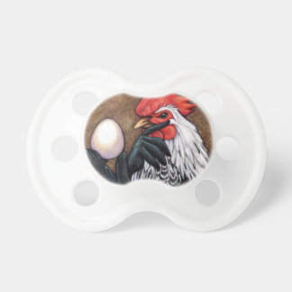 Rooster Egg Drawing Chicken Philosopher Pacifier
