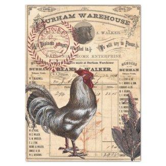 Rooster Ephemera Decoupage Tissue Tissue Paper