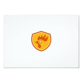Rooster Eye Shutter Crest Retro Card
