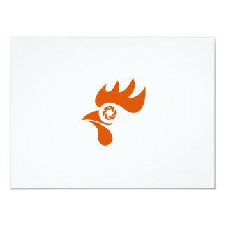 Rooster Eye Shutter Retro Card