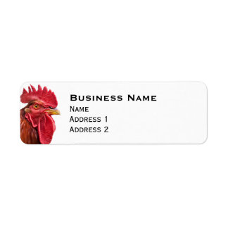 Rooster Face Label