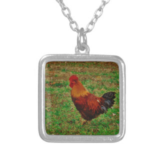 Rooster Facing Left Necklace