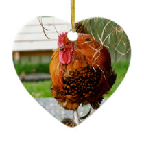 Rooster | Farm Animals Nature Photography Ceramic Ornament