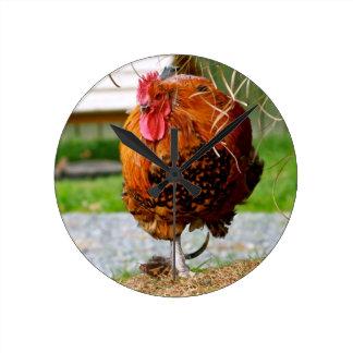 Rooster Farm Animals Nature Photography Wallclocks