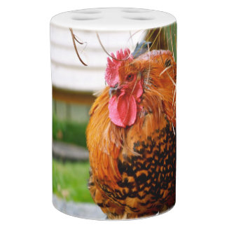 Rooster Farm Animals Nature Photography Bath Accessory Set