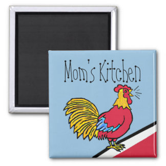 Rooster Farm-Mom's Kitchen 2 Inch Square Magnet