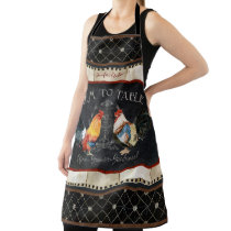 Rooster Farm to Table Kitchen Rustic Farmhouse Apron