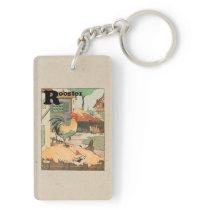 Rooster Farm Yard Keychain
