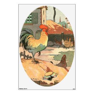 Rooster Farm Yard Wall Sticker