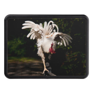 Rooster flapping wings trailer hitch cover