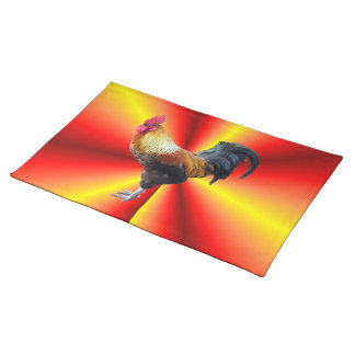 Rooster flash  American MoJo Placemat