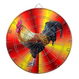 Rooster flash dart board