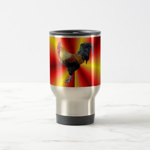Rooster flash travel mug