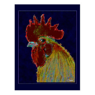 Rooster:  Freestyle Head Postcard