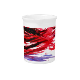 Rooster from Red Strokes Beverage Pitcher