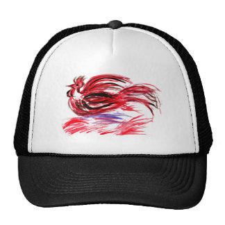 Rooster from Red Strokes Trucker Hat