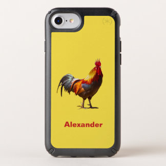 Rooster  Fun Yellow Speck iPhone Case