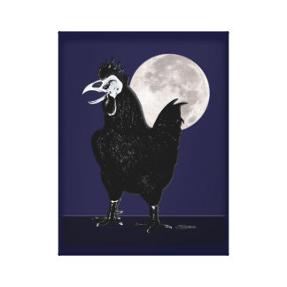 Rooster Ghost Canvas Print