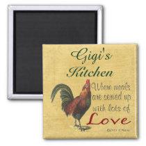 Rooster Gigi's Kitchen Refrigerator Magnet