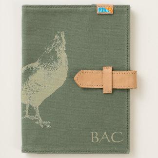 Rooster Handmade Canvas Journal