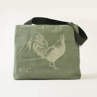 Rooster Handmade Canvas Utility Tote