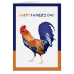 Rooster Happy Father's Day Card