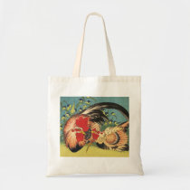 """""""Rooster, Hen and Chicken"""" Tote"""