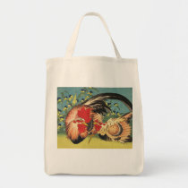 Rooster, Hen and Chicken Tote Bag