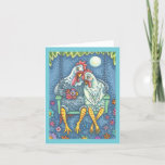 Cute Rooster & Hen Country Love Note Card