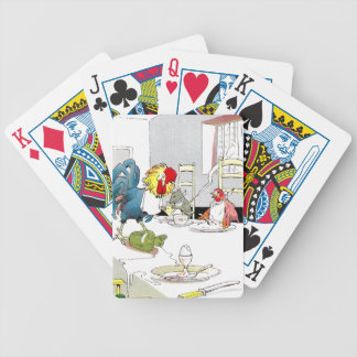 Rooster, Hen & Mouse at the Breakfast Table Bicycle Playing Cards