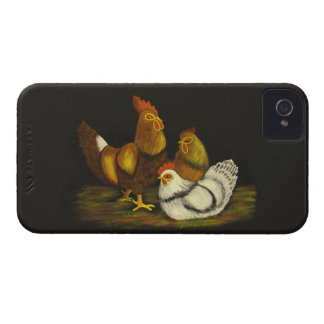 Rooster / Hens ~ iPhone 4/4S CaseMate Barely There Case-Mate iPhone 4 Case