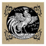 Rooster Home Decor, Apparel, and Gifts Poster