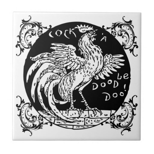 Rooster Home Decor, Apparel, and Gifts Small Square Tile