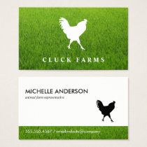 Rooster Icon Business Card