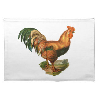 Rooster Illustration #1 Cloth Placemat