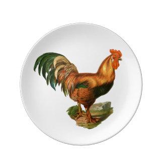 Rooster Illustration #1 Plate